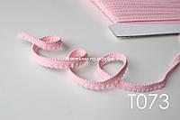 Тесьма со вставками розовая 9 мм (Т073)