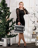 Женское платье с гипюровой спинкой (46-56) 8159.2
