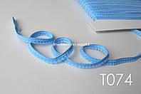 Тесьма со вставками голубая 9 мм (Т074) ОСТАТОК 2 м, фото 1