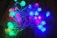 Новогодняя гирлянда с фигурками, ежики 40 LED