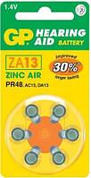 Батарейка для слуховых аппаратов GP ZA13 (PR48; DA13X), фото 1