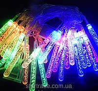 Новогодняя гирлянда с фигурками, сосульки 40 LED