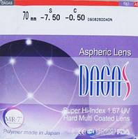 Линза для очков Dagas 1.67 HMC