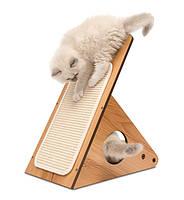 Когтеточка Hagen Vesper V-Playstation Walnut для кошек, орех, 37 х 23,5 х 44 см