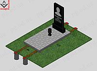 Памятник одинарный с установкой №1