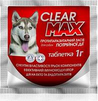 Антигельминтный препарат от глистов и клещей КлеарМакс (Clear Max) для собак, 1 табл