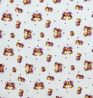 Ситец детский Собачки фиолет