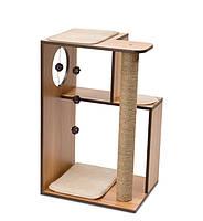 Когтеточка Hagen Vesper V-Box Walnut для кошек, 50 х 40 х 78 см