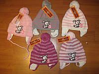 Очень теплые и удобные шапки для девочек