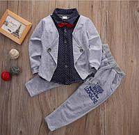 Нарядный костюм для мальчика с бабочкой, размер 80