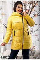 """Женская теплая курточка """"Уголок"""" большие размеры в расцветках"""