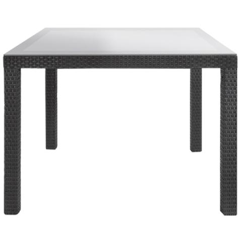 Стол со стеклом Sumatra Table Graphite