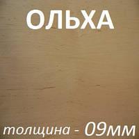 Фанера шпонированная 2500х1250х9мм - Ольха (2 стороны)