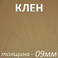Фанера шпонированная 2500х1250х9мм - Клен (2 стороны)