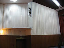 Драпировка стен Негорючими тканями (Trevira CS). Концерт-Холл 3