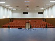 Драпировка стен Негорючими тканями (Trevira CS). Концерт-Холл 4