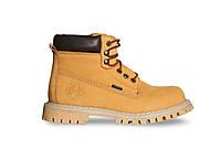 Ботинки STEEL 052ON-YEL  6 дыр. желтые нубук (ботинки, зимние, мех, кожа, черевики, хутро, вовна) 37