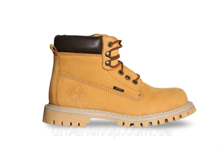 dad601c2cc21 Ботинки STEEL 052ON-YEL 6 дыр. желтые нубук (ботинки, зимние, мех ...