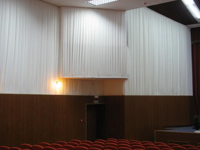 Драпировка стен Негорючими тканями (Trevira CS). Концерт-Холл 5