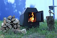 Печь буржуйка типа булерьян, с площадкой для приготовления пищи. 5кВт ДоМиК