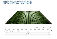 Профнастил стеновой С-6 Zn(Цинк)0,4мм