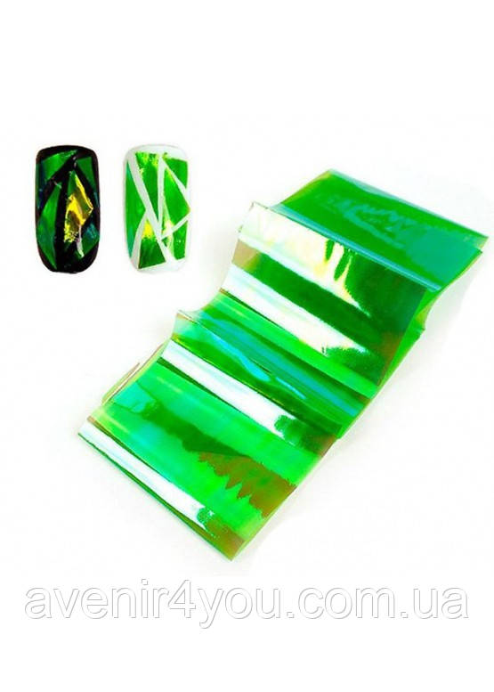Декоративна фольга для дизайну нігтів Бите скло № 3