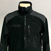 Куртка черная камуфляжная флисовая