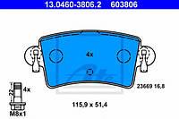 Тормозные колодки дисковые задние Ate на Opel Movano