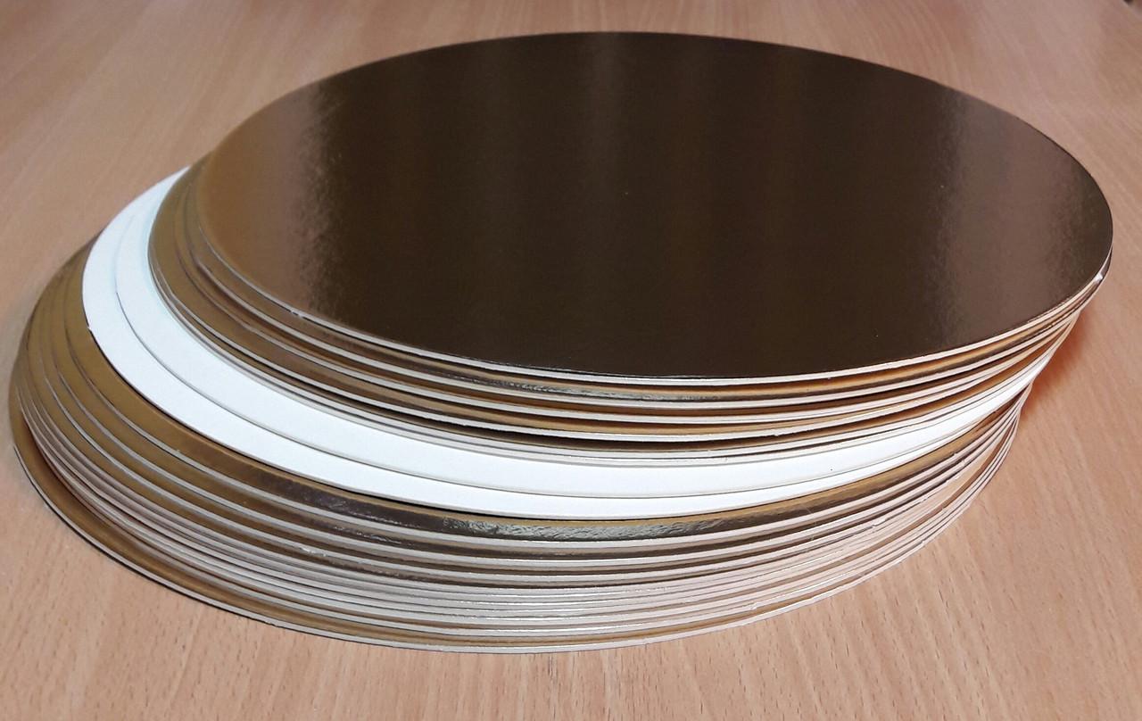 Подложка уплотненная 30 см двусторонняя золото/белая