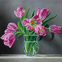 Схема для вышивки бисером POINT ART Голландские тюльпаны, размер 30х30 см