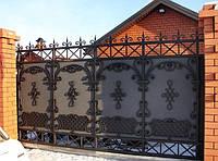 Кованые откатные ворота купить в Херсоне с покраской доставкой и монтажом