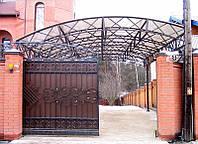 Купить откатные ворота с ковкой в Херсоне с покраской доставкой и монтажом