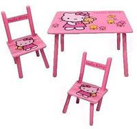 Детский столик со стульчиками Хелло Китти