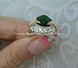 Серебряное кольцо 925 пробы с накладками золота 375 пробы, фото 3