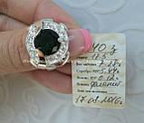 Серебряное кольцо 925 пробы с накладками золота 375 пробы, фото 4