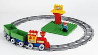 """Детский конструктор Unico Plus """"Железная дорога с поездом"""""""
