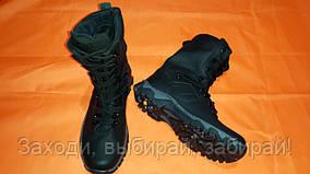 Утеплённые кожаные берцы Lux(Чёрные) 41-47р.