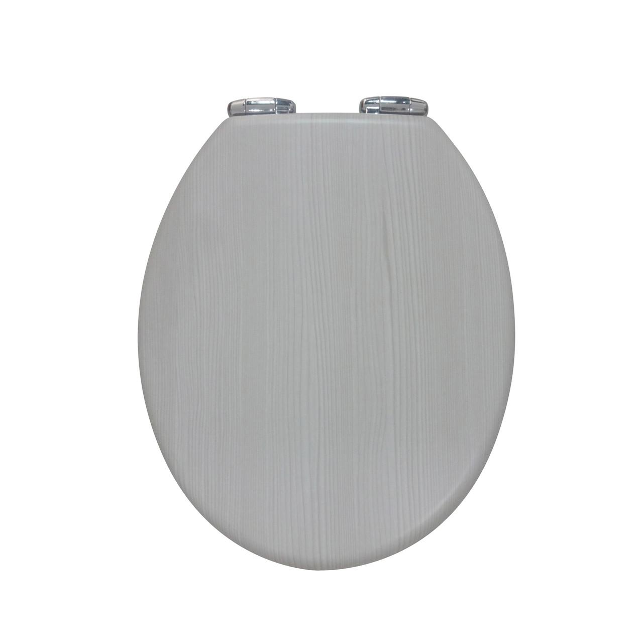 Крышка для унитаза под дерево серая с микролифтом Dab Rijeka AWD02181066