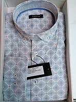 Рубашка белаяDERGI мужская приталенная с длинным рукавом код 7165-2 966f1a60b0a71