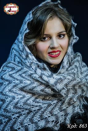 Женский оренбургский палантин Патрисия, фото 2