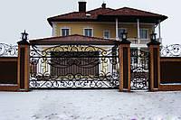 Заказать кованые откатные ворота в Херсоне с покраской доставкой и монтажом