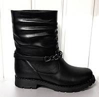 Ботинки женские зимние замша/кожа натуральные Uk0372