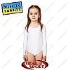 Купальник для художественной гимнастики, белый RS GM030063 (бифлекс, р-р 1-XL, рост 98-155см)