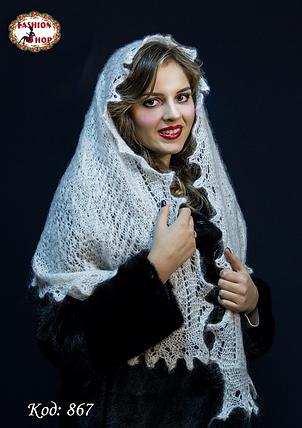 Оренбургский пуховый палантин Берта, фото 2