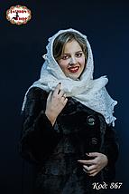 Оренбургский пуховый палантин Берта, фото 3