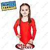 Купальник для художественной гимнастики, красный RS GM030061 (бифлекс, р-р 1-XL, рост 98-155см)