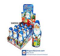 Шоколадная фигурка Дед Мороз с сюрпризом 60 гр. 12 шт Aras