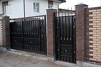 Изготовление и продажа кованых откатных ворот в Херсоне с покраской доставкой и монтажом