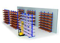Консольные стеллажи для хранения длинномерных грузов