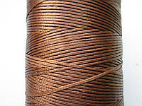 Нить вощёная плоская 1 мм коричневая